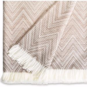 Missoni Beige Throw / Blanket In Merino Wool Timmy